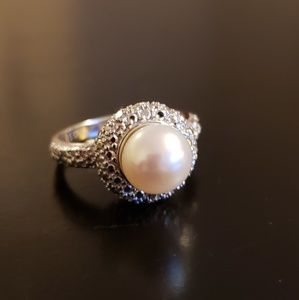 💕Sterling White Pearl  Ring